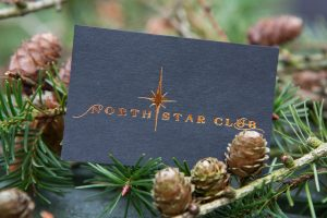 north star club luxury woodland retreat holidays - business card with branding