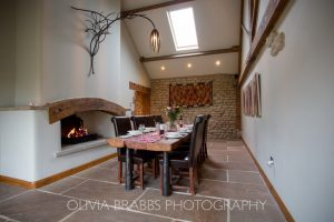 interiors photography luxury holiday cottage dining room