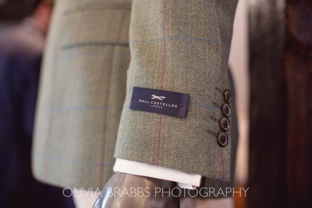 sleeve detail for paul costelloe suit