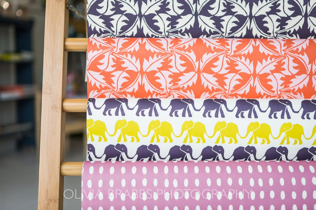 wrapping paper display kemps general store malton