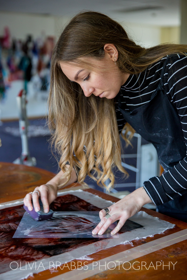 textile designer at work www.oliviabrabbs.co.uk
