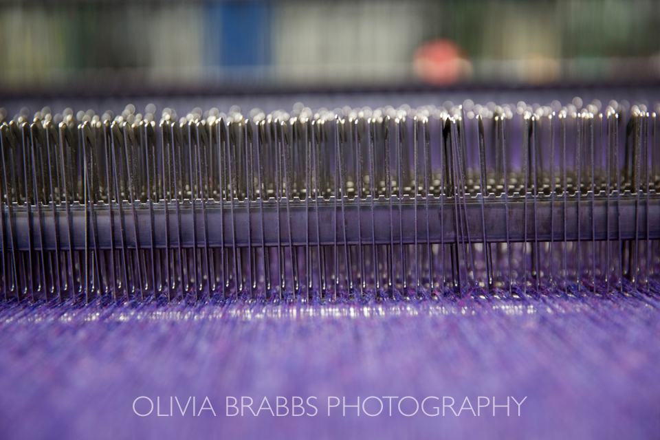 yorkshire tweed fabric in production at Marton Mills www.oliviabrabbs.co.uk
