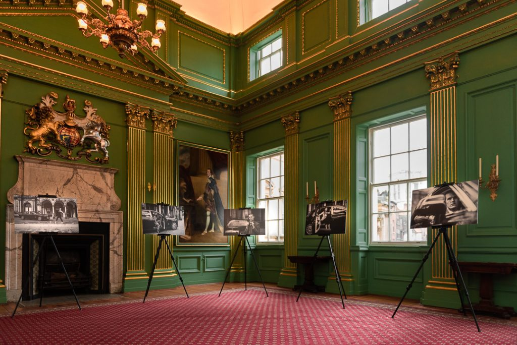 gallery of black and white fashion photographs by Olivia Brabbs on display at York Mansion House