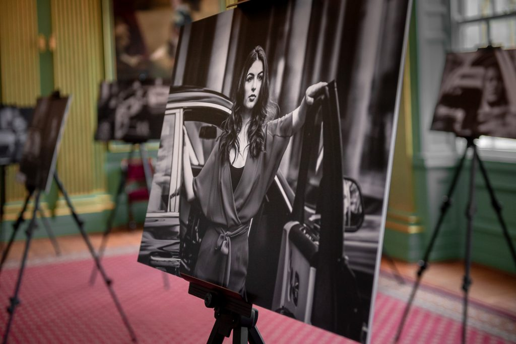 close up of print panel by olivia brabbs from york fashion week photography shoot with rolls royce motors leeds