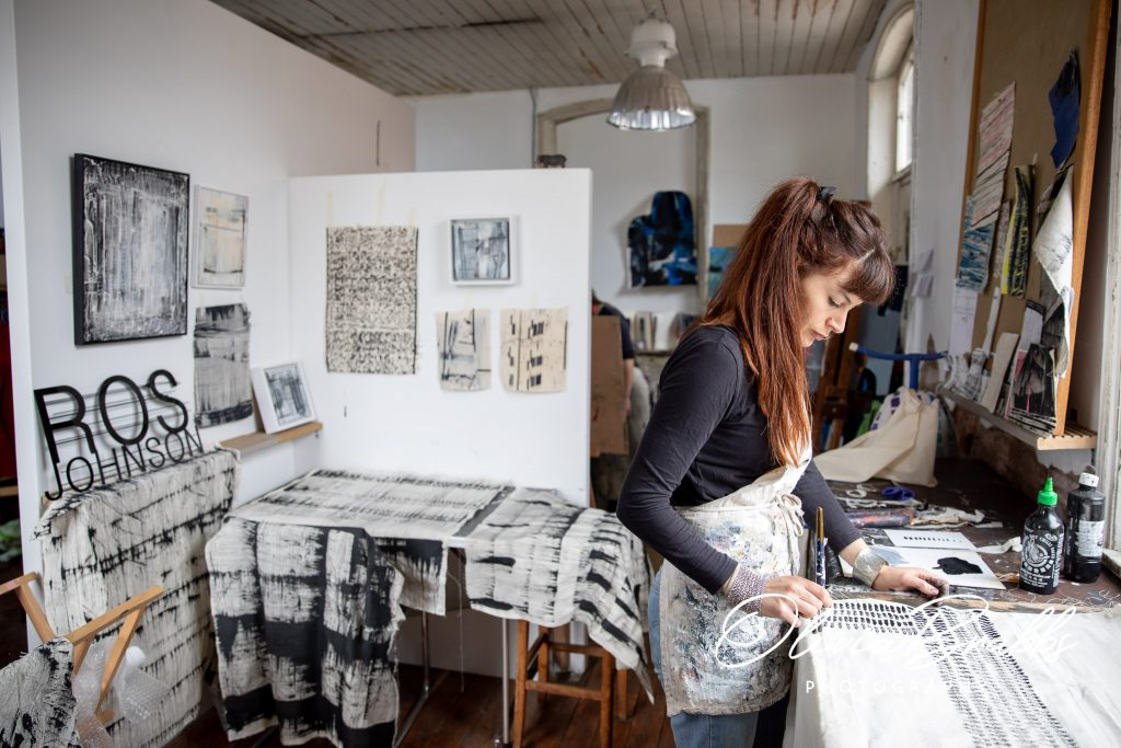 wider view of water house studios in york with artist ros johnson