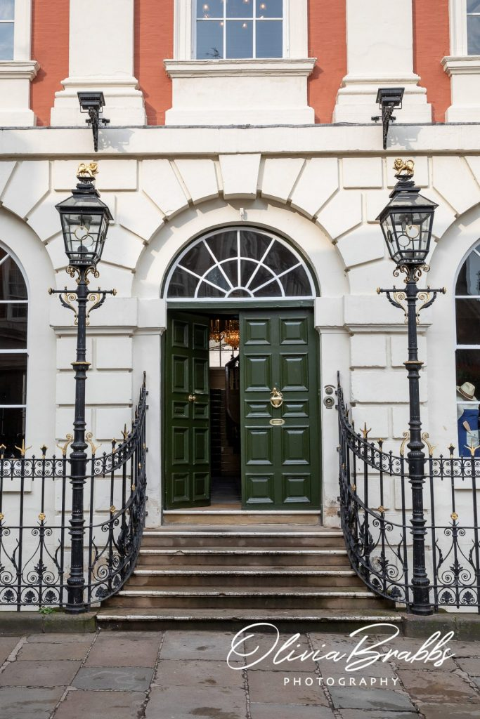 entrance to york mansion house from front of property