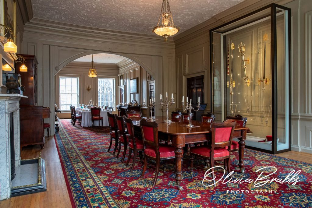 dining room at york mansion house