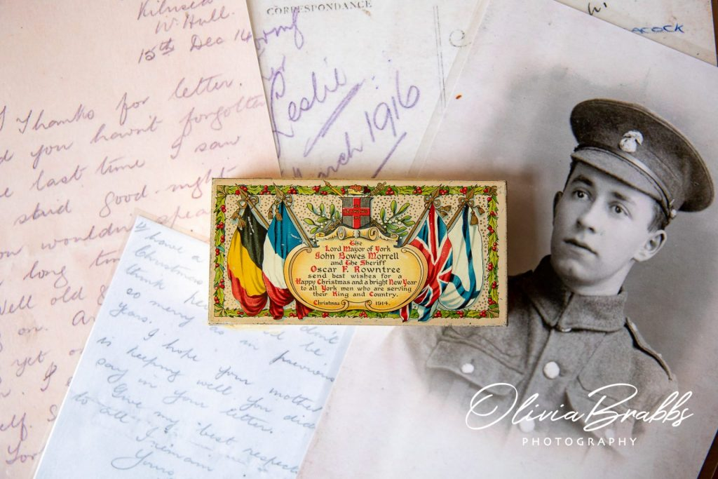 chocolate tin and archive letters from world war one on show at york mansion house