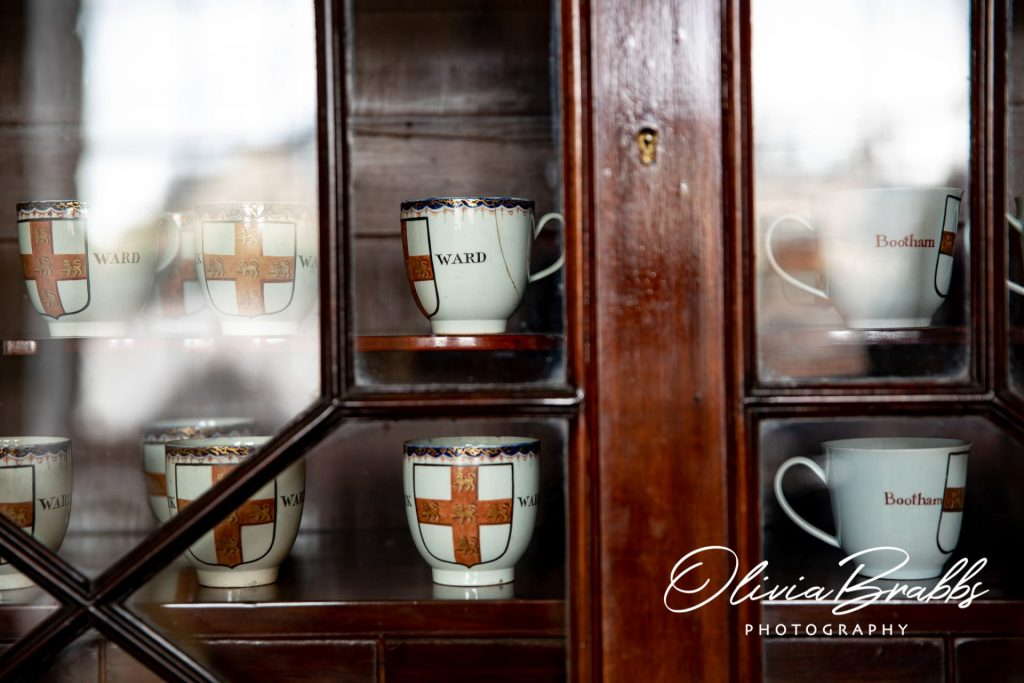 cups on display at york mansion house