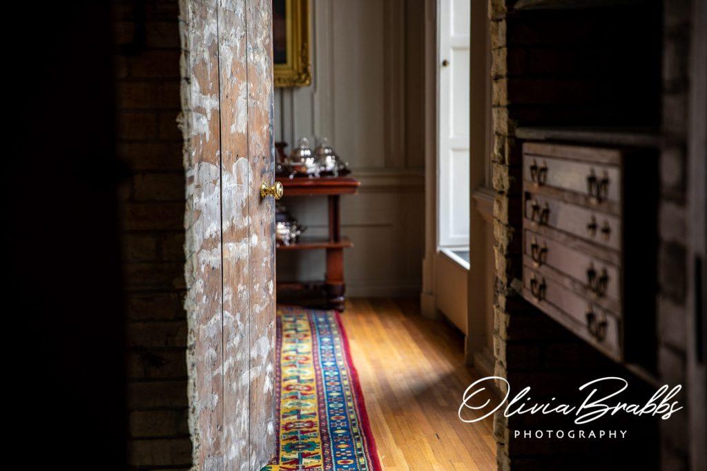 view through secret corridor through to dining room at york mansion house
