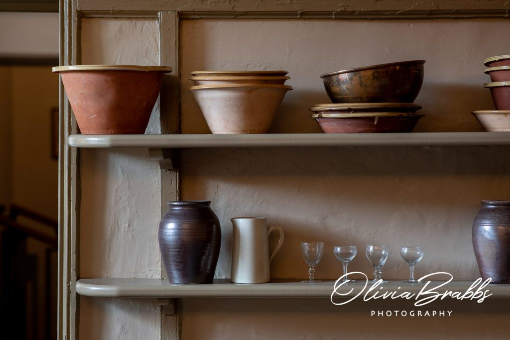 kitchen ware on display in replica georgian kitchen at york mansion house