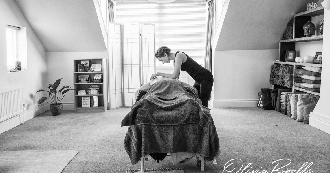 lifestyle photography for massage therapist